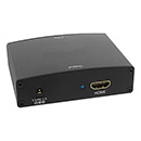 Converts analogue VGA video and audio