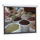 Manual projection screen for direct or