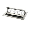 Desktop casing for 4 insets,