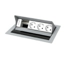 Desktop casing for 4 insets, powder-